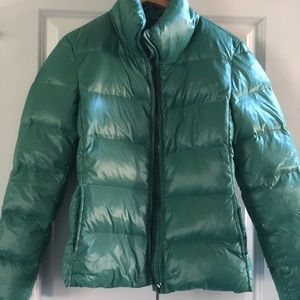 Green Puffer Jacket - Benetton - Size 8 - $50